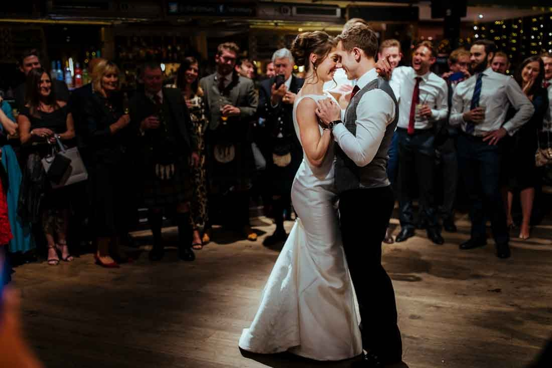 St Bart's Brewery london reception first dance